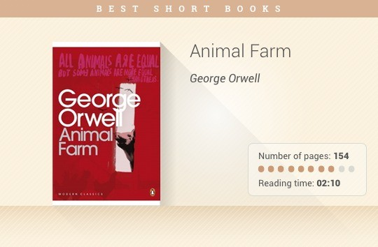 Best short books - Animal Farm - George Orwell