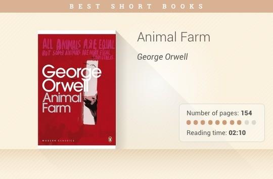 Best short books - Animal Farm - George Orwell