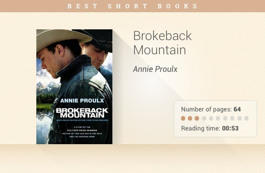 Best short books - Brokeback Mountain - Annie Proulx
