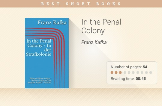 Best short books - In the Penal Colony - Franz Kafka