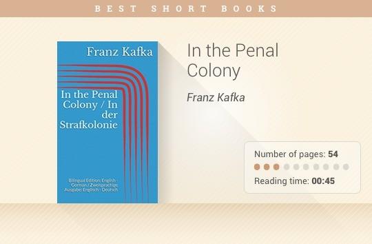 Best short books - In the Penal Colony - Franz Kafka