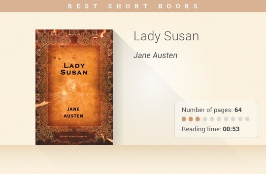 Best short books - Lady Susan - Jane Austen