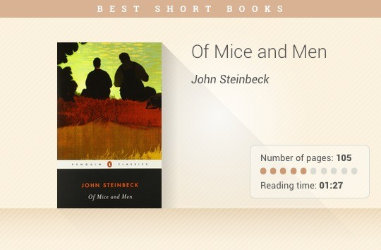 Best short books - Of Mice and Men - John Steinbeck