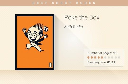 Best short books - Poke the Box - Seth Godin