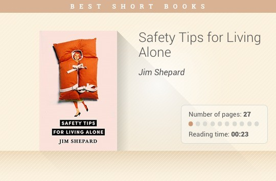 Best short books - Safety Tips for Living Alone - Jim Shepard