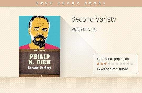 Best short books - Second Variety - Philip K. Dick