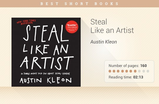 Best short books - Steal Like an Artist - Austin Kleon