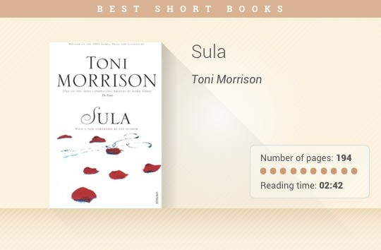 Best short books - Sula - Toni Morrison
