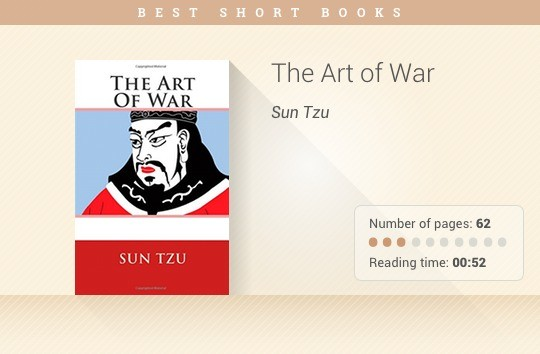 Best short books - The Art of War - Sun Tzu
