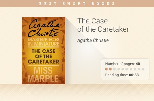 Best short books - The Case of the Caretaker - Agatha Christie