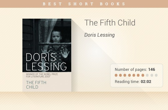 Best short books - The Fifth Child - Doris Lessing