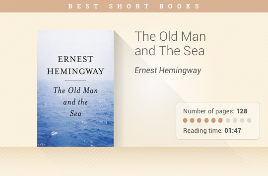 Best short books - The Old Man and the Sea - Ernest Hemingway