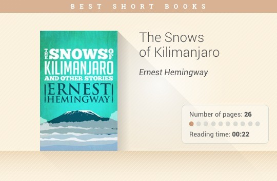 Best short books - The Snows of Kilimanjaro - Ernest Hemingway