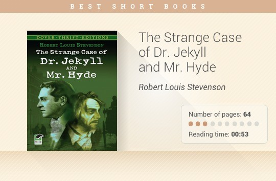 Best short books - The Strange Case of Dr. Jekyll and Mr. Hyde - Robert Louis Stevenson