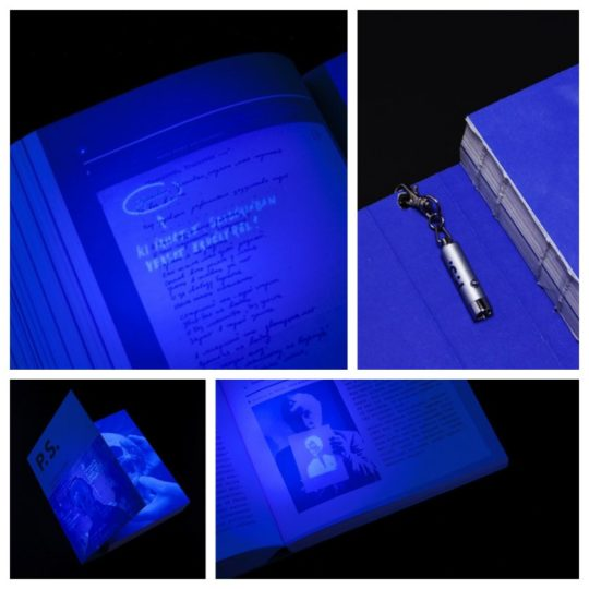 Creative books - a book that reveals all secrets under UV light