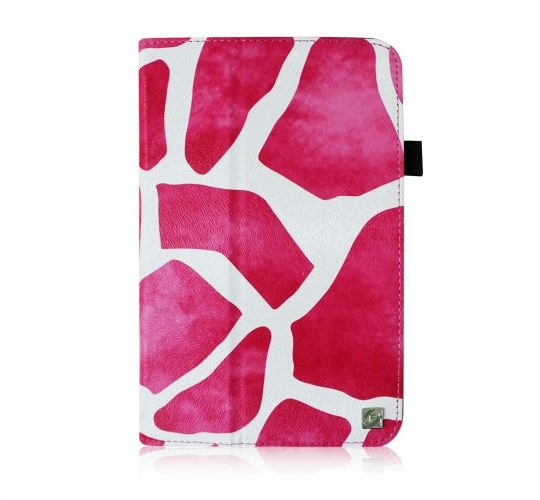 Fintie Giraffe Magenta Fit Folio Case Cover for Samsung Galaxy Tab 3 7.0