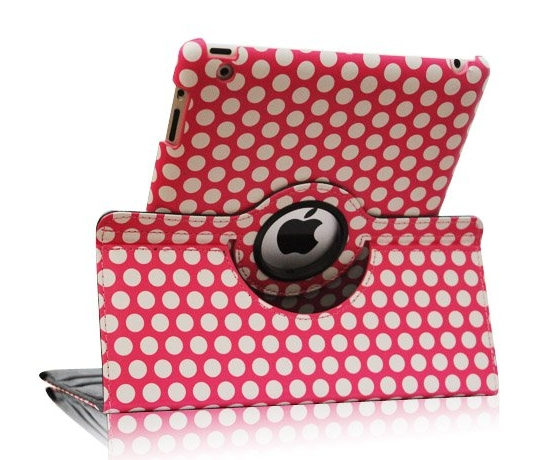Fintie Polka Dot Rotating Stand Case for iPad 4, 3, and 2