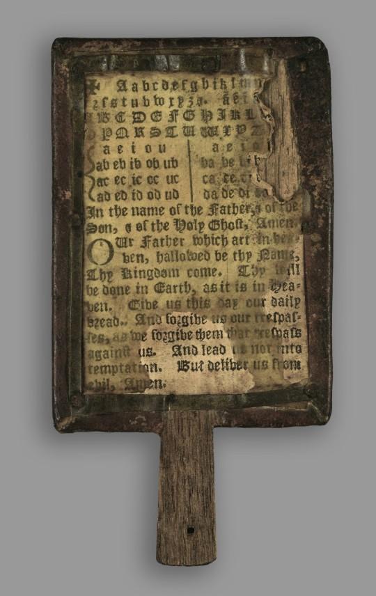 Hornbook - the book on a stick