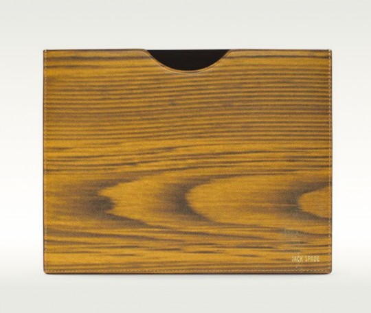 Jack Spade Woodgrain Leather iPad Sleeve