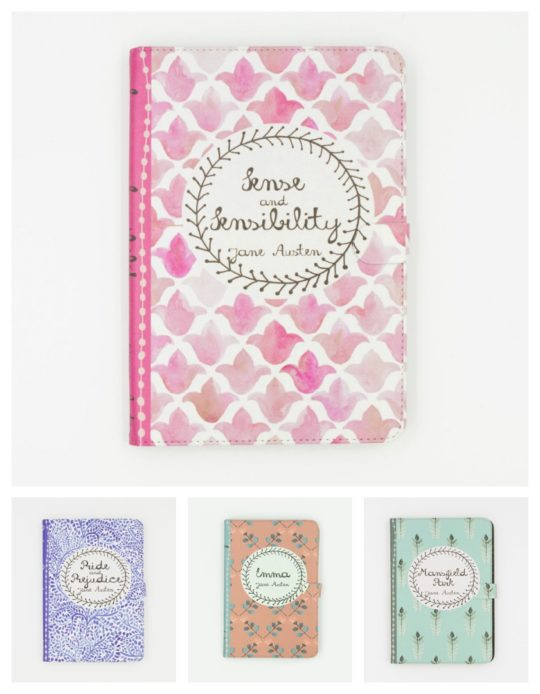 Jane Austen iPad case covers from Chiclit Designs