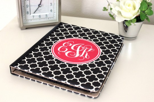 Kari On Monogrammed iPad Cover