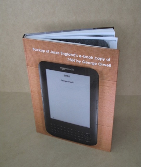 Kindle ebook backup - art project