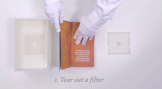 The drinkable book - tear out the filter