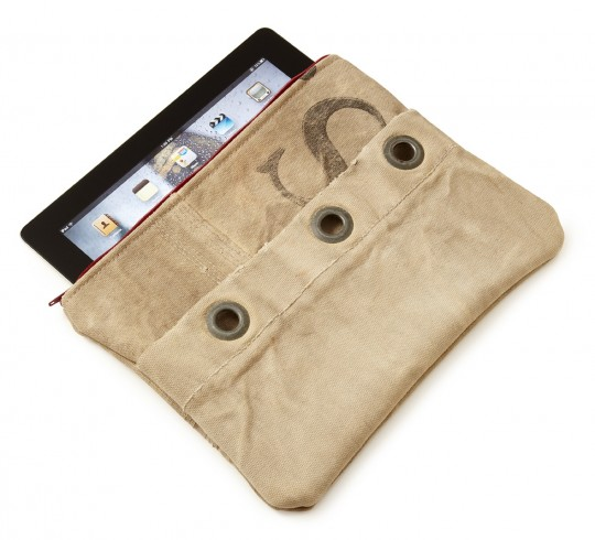 Upcycled Mail Sack for iPad 4, 3, and 2