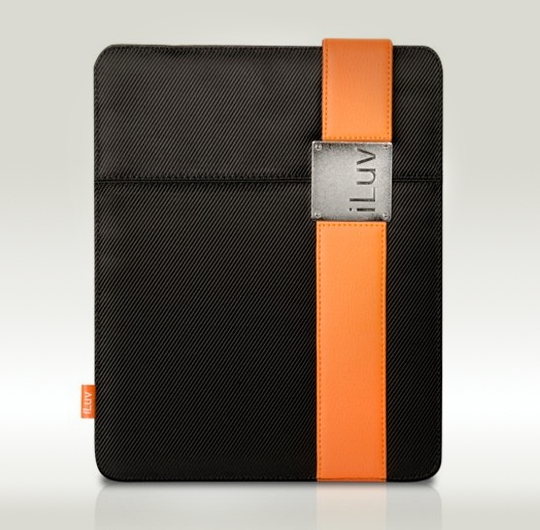 iLuv Casual Fabric Case with Band Clip for Apple iPad 4, 3, and 2