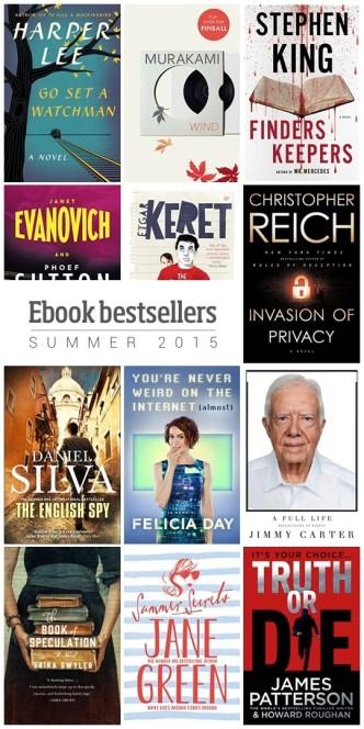 12 sure-fire ebook bestsellers - summer 2015