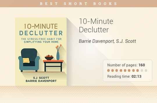 Best short books - 10-Minute Declutter - Barrie Davenport and S.J. Scott