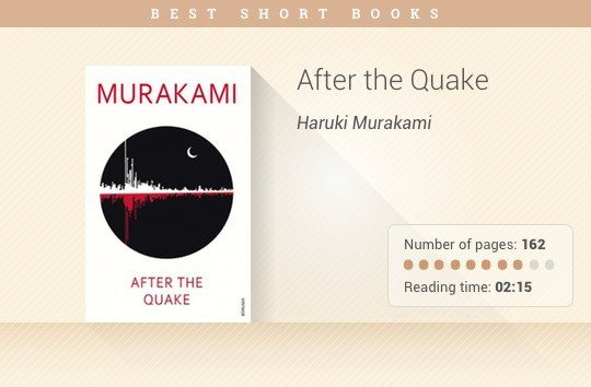 Best short books - After the Quake - Haruki Murakami