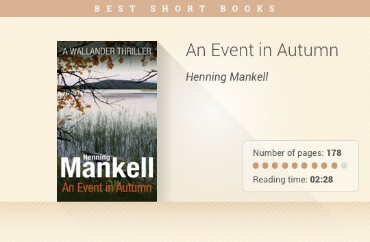 Best short books - An Event in Autumn - Henning Mankell