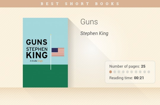 Best short books - Guns - Stephen King