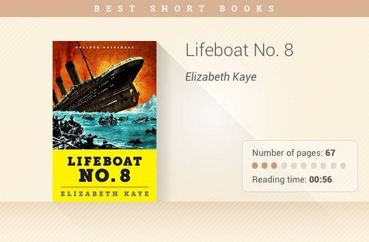 Best short books - Lifeboat No. 8 - Elizabeth Kaye