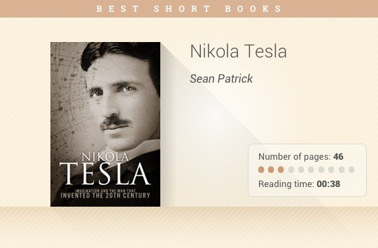Best short books - Nicola Tesla - Sean Patrick