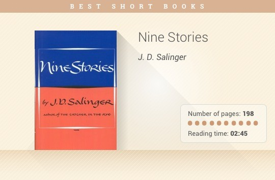 Best short books - Nine Stories - J.D. Salinger
