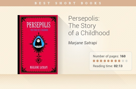 50 short books for busy people persepolis the story of a childhood marjane satrapi fandeluxe