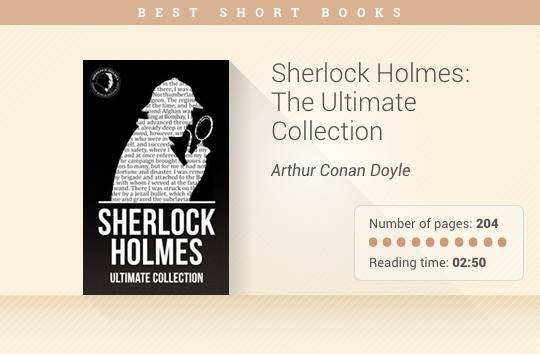 Best short books - Sherlock Holmes- The Ultimate Collection - Arthur Conan Doyle