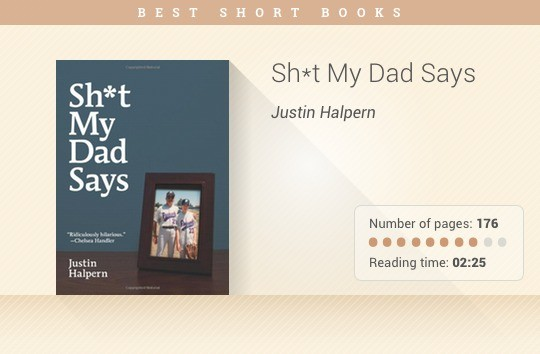 Best short books - Sh*t My Dad Says - Justin Halpern