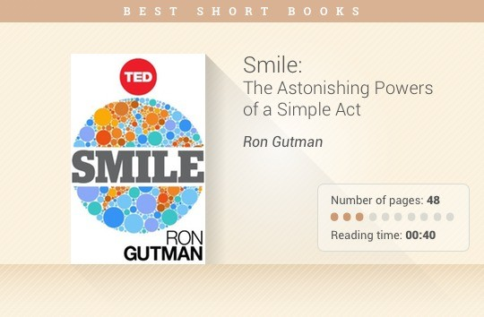 Best short books - Smile - Ron Gutman