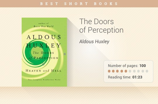 Best short books - The Doors of Perception - Aldous Huxley