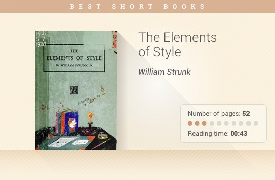 Best short books - The Elements of Style - William Strunk