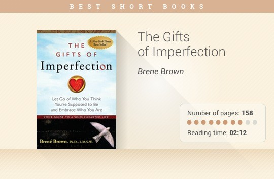 Best short books - The Gifts of Imperfection - Brene Brown
