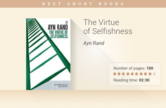 Best short books - The Virtue of Selfishness - Ayn Rand