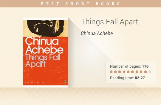 Best short books - Things Fall Apart - Chinua Achebe