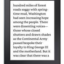 Bookerly font - large size on a screen of Kindle Paperwhite 2015