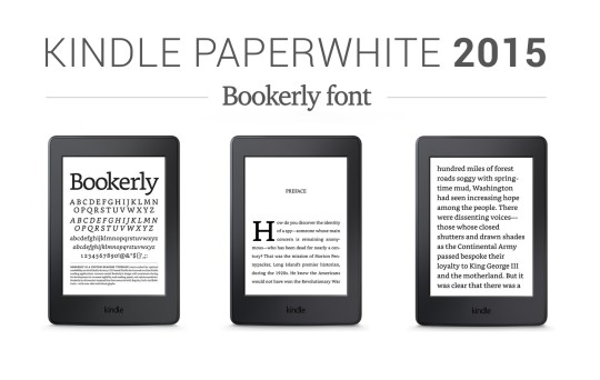 Kindle Paperwhite 2015 - Bookerly font on the device