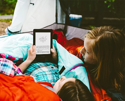 Kindle Paperwhite 2015 - reading outside