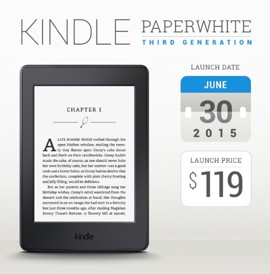 Kindle Paperwhite 2015: tech specs, reviews, comparisons, and more
